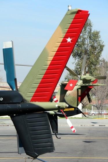Line-up de timones de alas rotativas militares en el open day de Rancagua (foto: Carlos Ay).