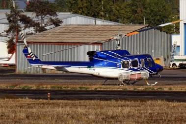 Bell 412 C-FPMR en Tobalaba, mayo de 2015 (foto: Carlos Ay).