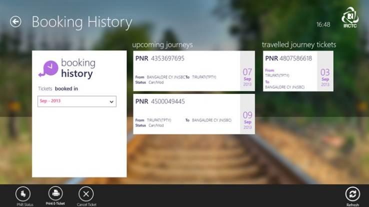 IRCTC ticket booking Windows 8_screenshots