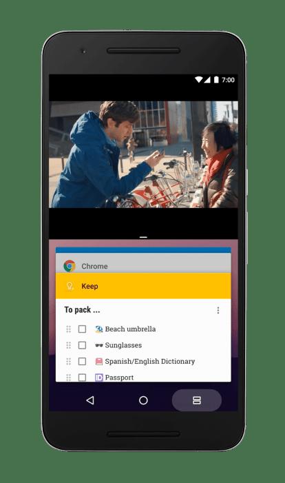 android 7.0 nougat split screen