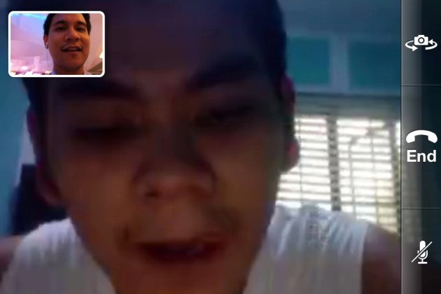 Facetime call with my bro (Landscape view).
