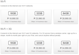 iPad Prices Philippines