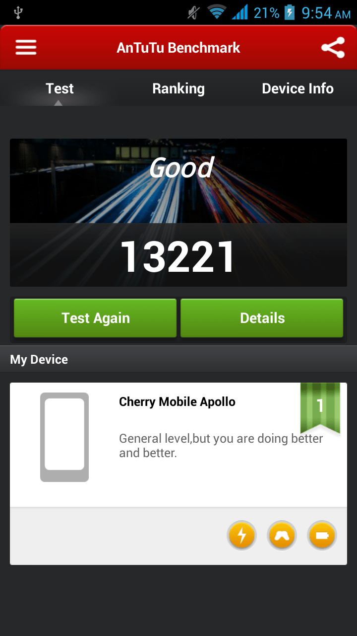 Cherry Mobile Apollo Benchmark