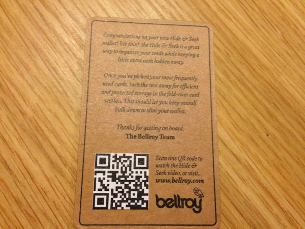 The back has a neat welcome message and a QR code that links to an introduction video.