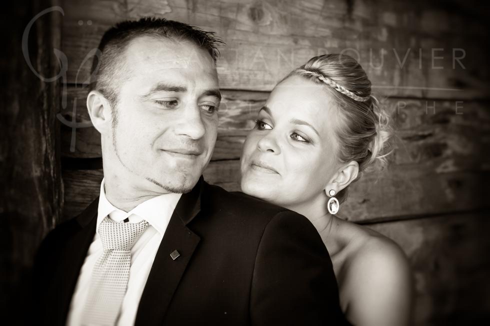 Photo de couple en noir et blanc