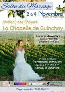 Salon du mariage - La Chapelle de Guinchay - Château des Broyers