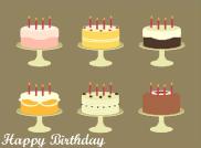 Six Birthday Cakes