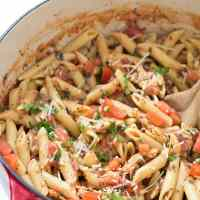20-Minute Tuscan Chicken with Penne Pasta