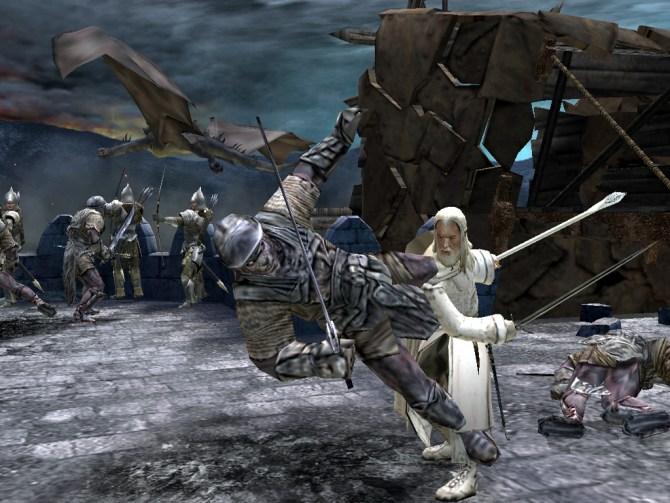 Herr-der-Ringe-Games-Die-Rückkehr-des-Königs-Gandalf-auf-der-Mauer