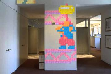Post-it Note Arcade – Stop Motion Animation