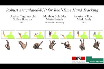 Robust Articulated-ICP for Real-Time Hand Tracking