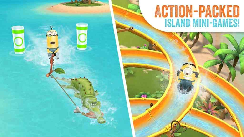 Minions Paradise mini games