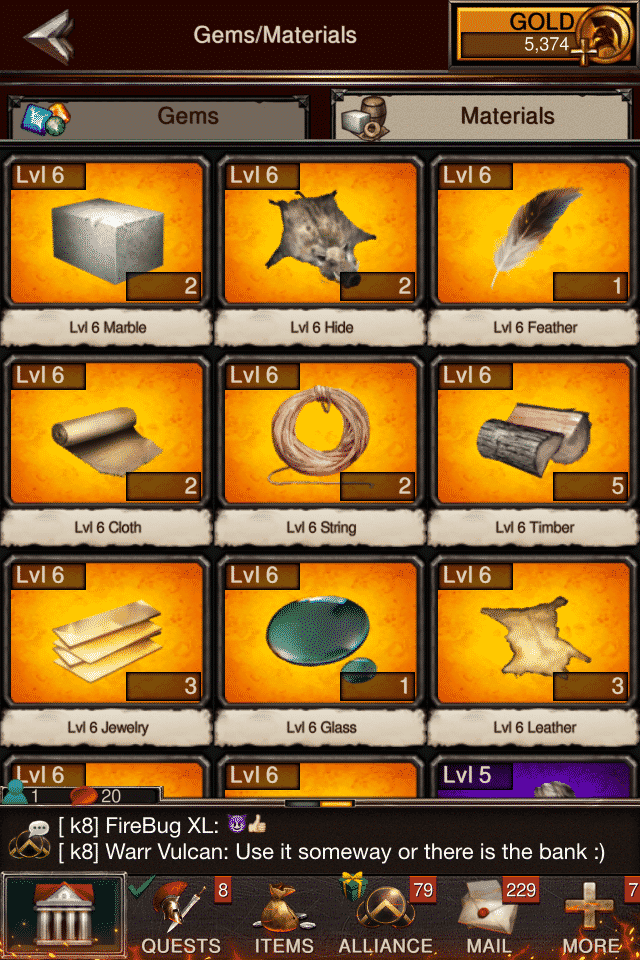 Game of War Fire Age materials