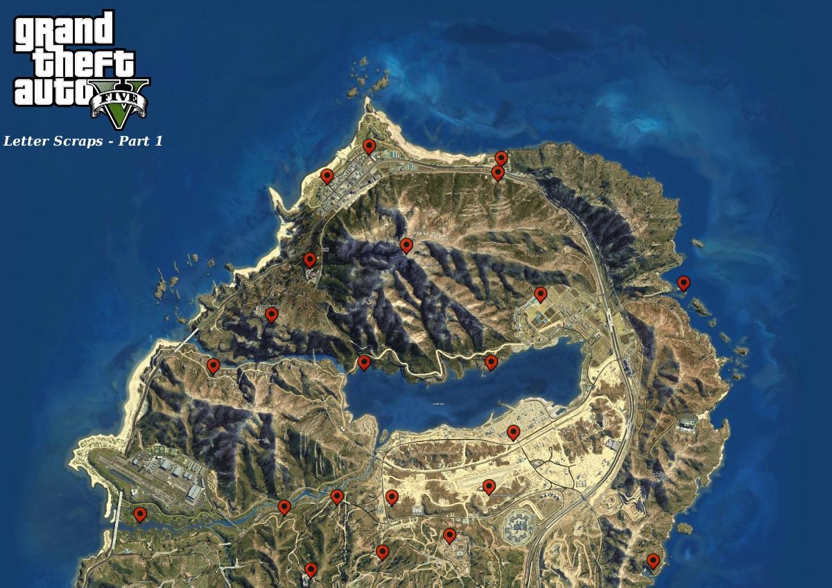GTA 5 Letter Scraps Locations [Map]