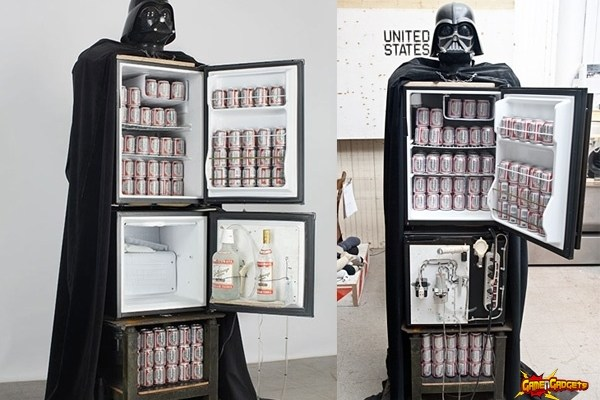 Darth Vader Beer Fridge and Vodka Fountain