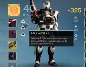 Destiny Buffs or Boosters Brillance 3.2 and Magnificence 2.0 appearing in PVP