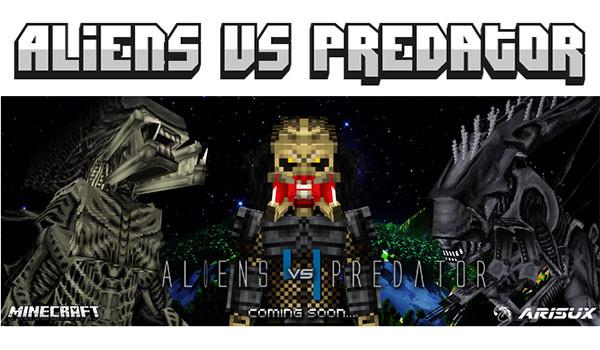 Aliens vs Predator Mod para Minecraft 1.7.10-RACCOON KNOWS