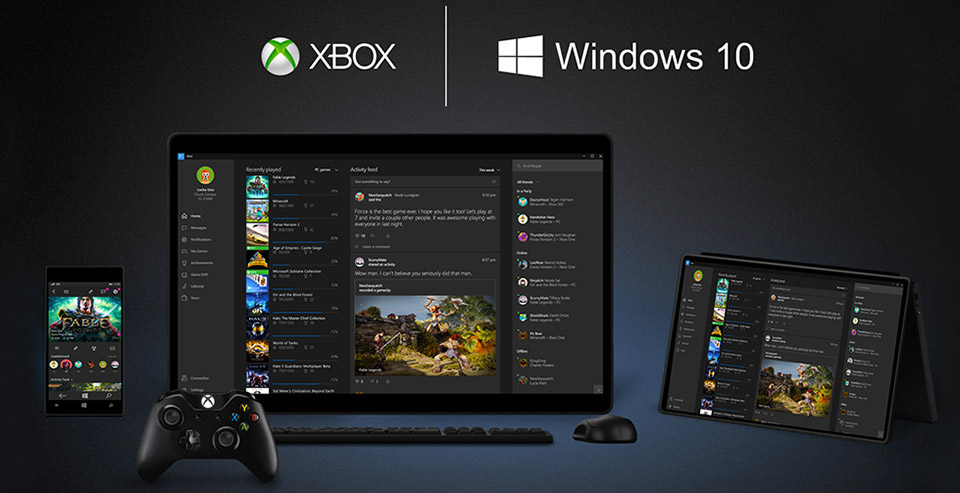 Anniversary Update de Windows 10 -Xbox One-GAMERSRD
