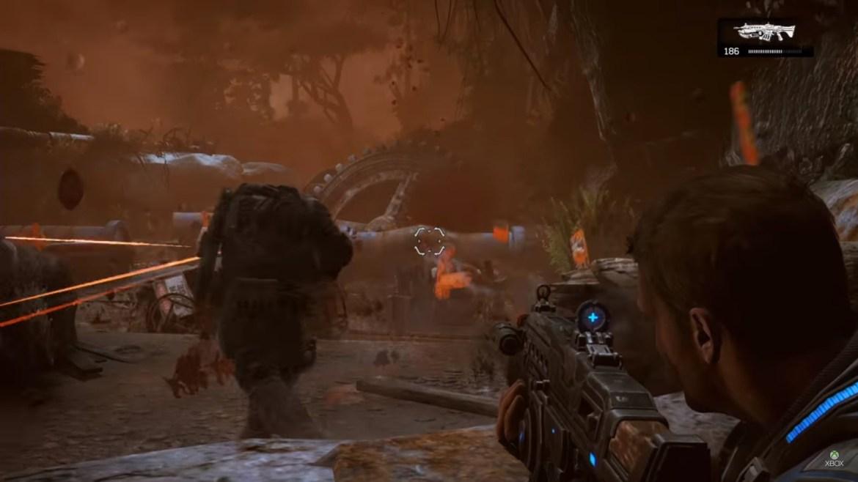 Gears Of War 4 (Marcus Fenix luchando junto a su hijo JD) GAMERSRD