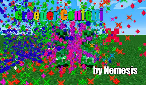 Creeper Confetti Mod para Minecraft 1.10 y 1.10.2-GamersRD