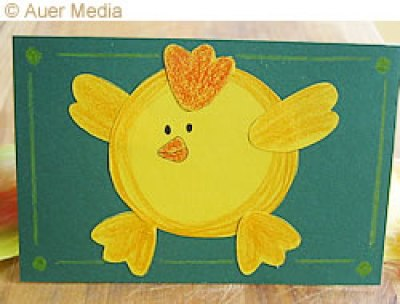 Easter chicken card - print out, color and cut!