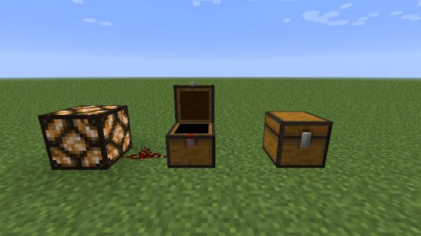 Cofres redstone minecraft 1.5