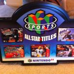 Nintendo 64 Sports All Star Titles Display Sign