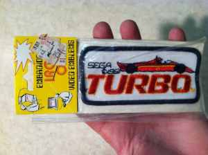 Vintage Turbo Embroidered Patch 1981 Sega