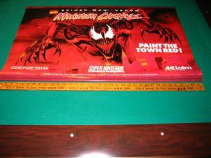 1994 SPIDER-MAN Venom MAXIMUM CARNAGE Nintendo Retail SIGN