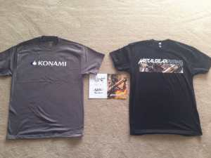 Exclusive Metal Gear Rising Cover Signed By Two MGR Producers & Konami T-shirts