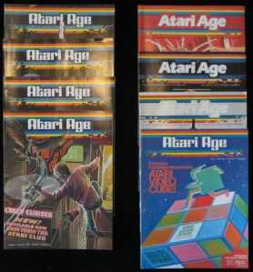 Eight Issues of Rare Atari Age Magazine