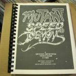 Rare 90s Unreleased Video Game Manuscript for SEGA GENESIS Mutant Speed Demons 1