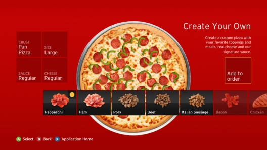 Pizza Hut on Xbox