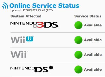 nintendo service status