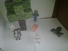 Tree, Spider, Zombie, Wolf and more animals papercraft