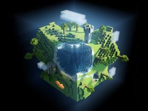 minecraft worl cube