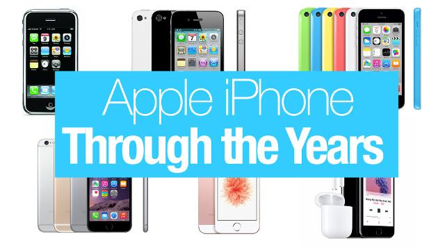 How the Apple iPhone has changed over the years