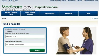 How to find hospital star ratings