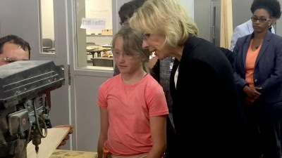 Betsy DeVos visits Grand Rapids to promote community college training