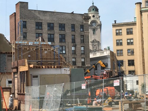 "Backdrops and sets for Steven Spielberg's movie ""West Side Story"" being assembled in downtown Paterson in July 2019"