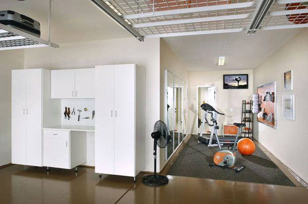 Inspirational garage gyms ideas gallery pg 5 garage gyms for Tandem garage
