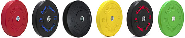 The OFW Bumper Plate line-up - Probably the best-selling bumpers in the USA