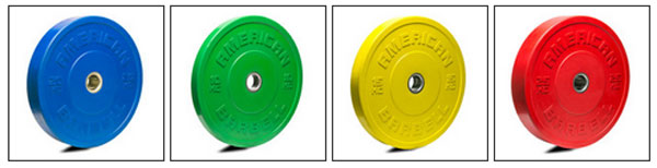 American Barbell Colored KG Sport Bumpers
