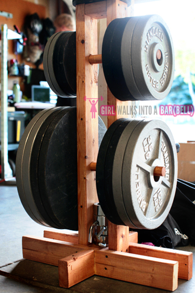Diy bumper plate storage projects garage gym organization