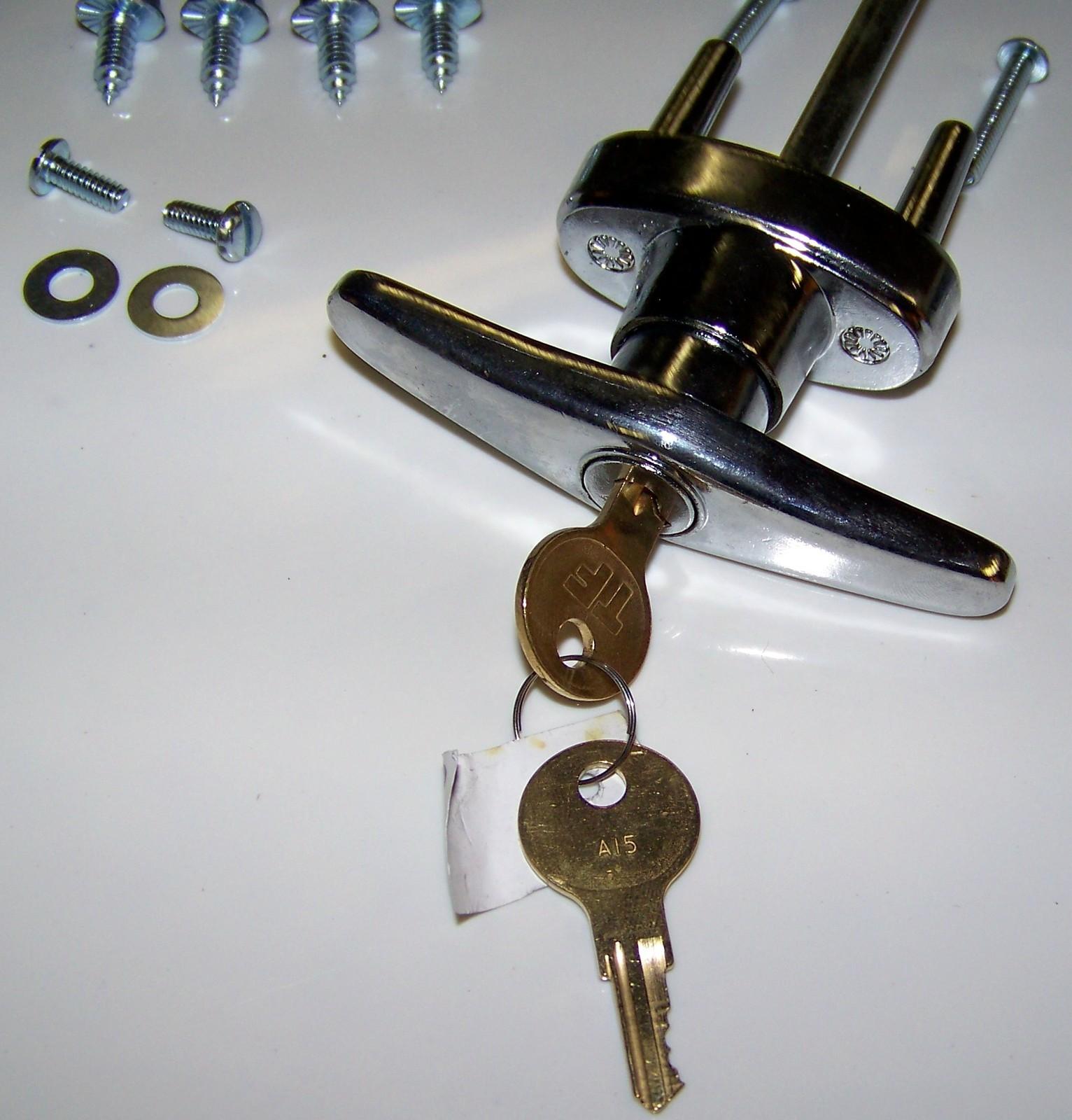 garage door lock kit w spring latch keyed in handle universal all doors lock garage door