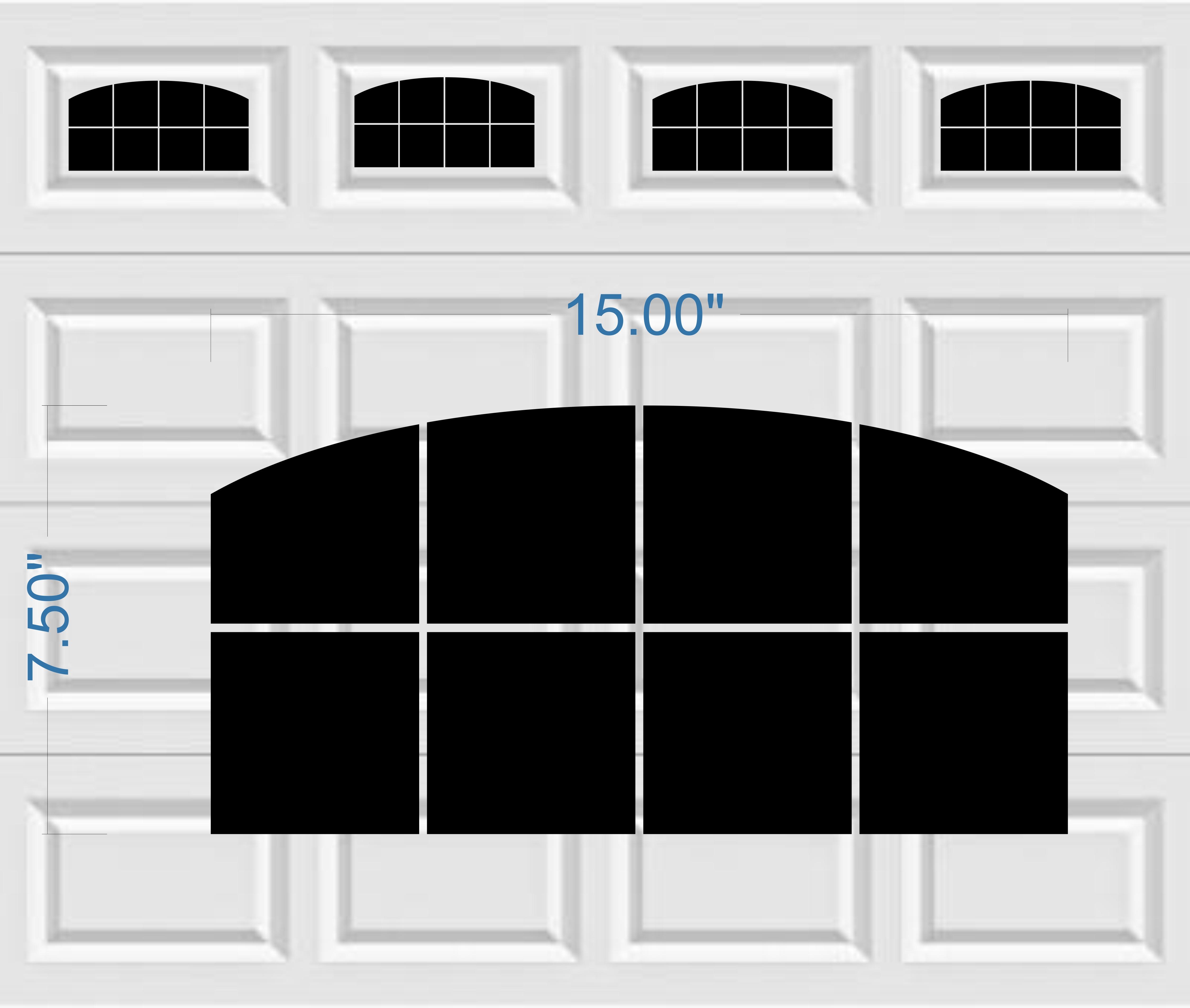 Halloween garage door decals - Arched Style Faux Window Garage Door Vinyl Decals