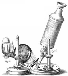 Jaantus 3.3 Sawir gacmeedka weyneeyihii uu Huuk adeegsaday. Xigasho: Robert Hooke [Public domain], via Wikimedia Commons.