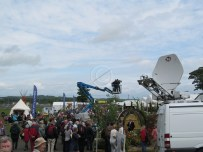 High level platforms and a satellite truck - all part of the media interest in Gardening Scotland