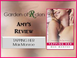 tapping her review photo