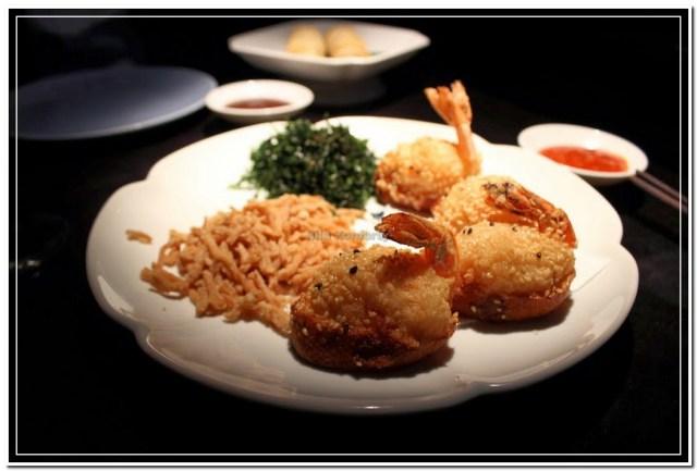 Sesame shrimps toasts, Hakkasan